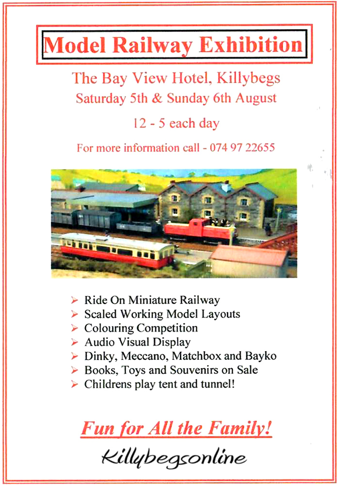 Model Railway Exhibition in the Bay View Hotel Killybegs